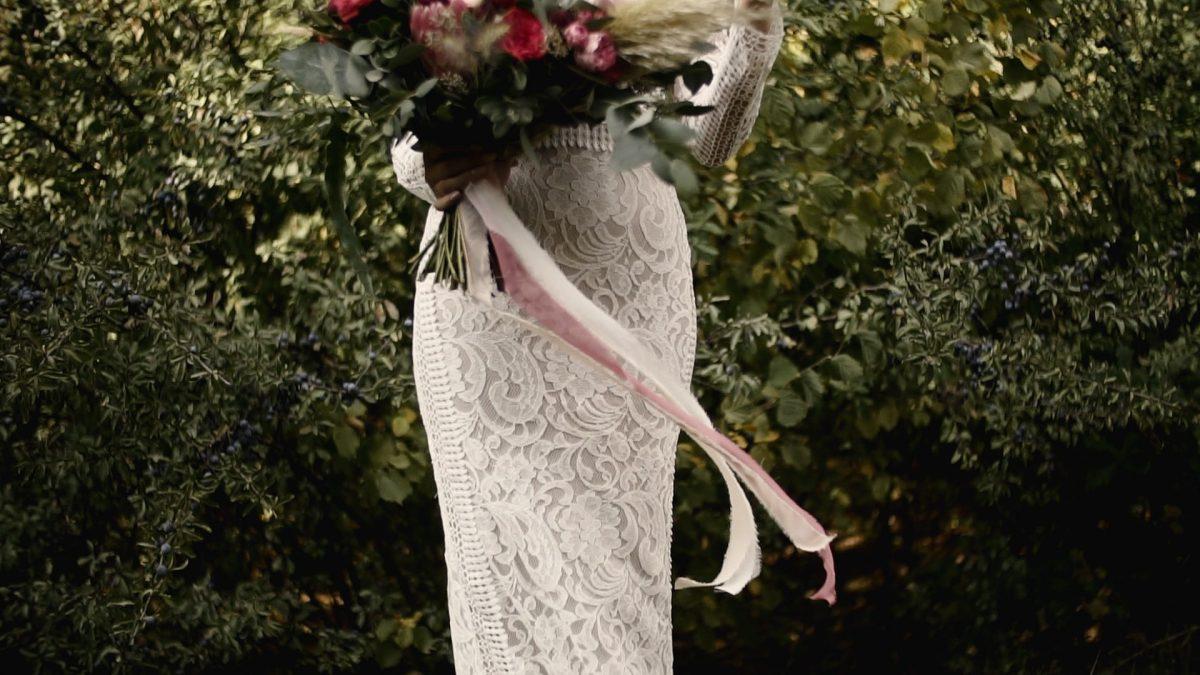 suknia ślubna, sesja plenerowa, film ślubny, nazajutrz